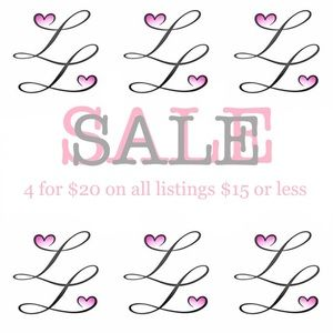 SALE!!! 4 for $20 on items listed $15 or less